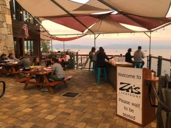 Za's Lakefront, Available for lakefront patio dining, take out, curbside & pierside services